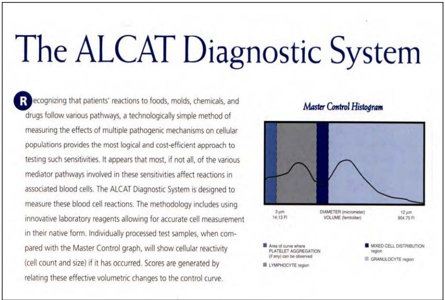Figure 6. The Alcat Test diagnostic system.