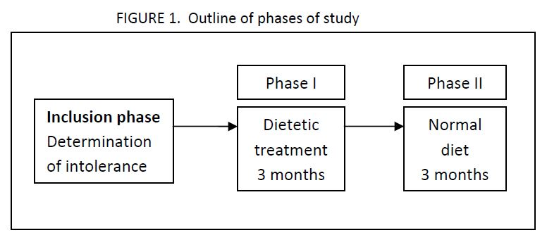 Outline of the study that includes an inclusion phase, phase 1, and phase 2