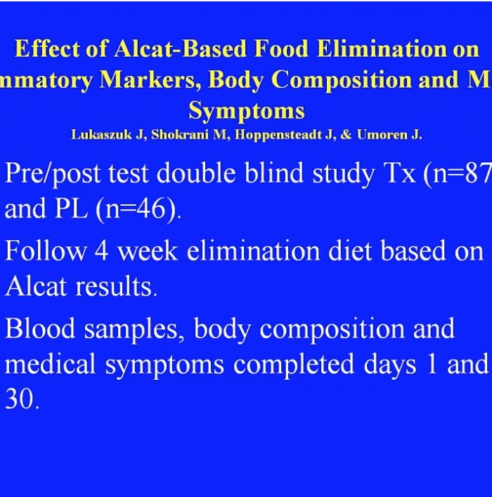 alcat test research slide